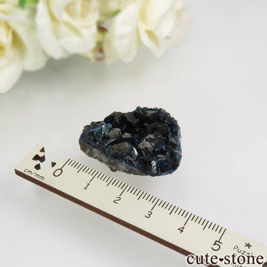 カナダ ユーコン ラピッドクリーク産 ラズライト(天藍石)&クォーツの母岩付き結晶(原石) 13.2gの写真3 cute stone