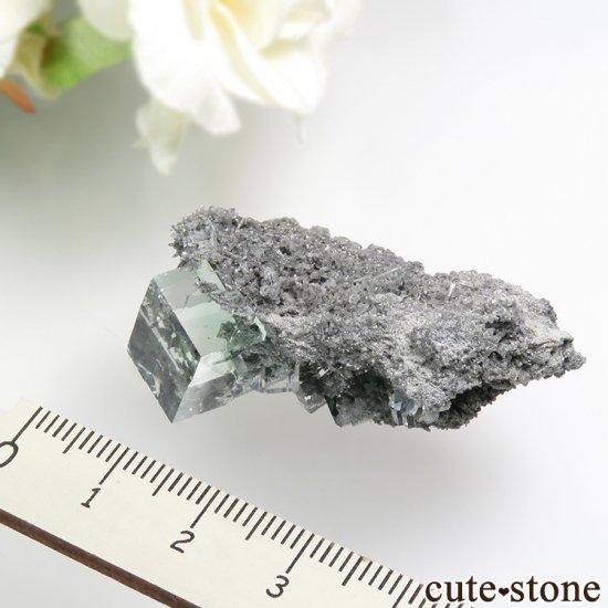 中国 Xianghualing Mine産 グリーンフローライトの結晶 11gの写真3 cute stone