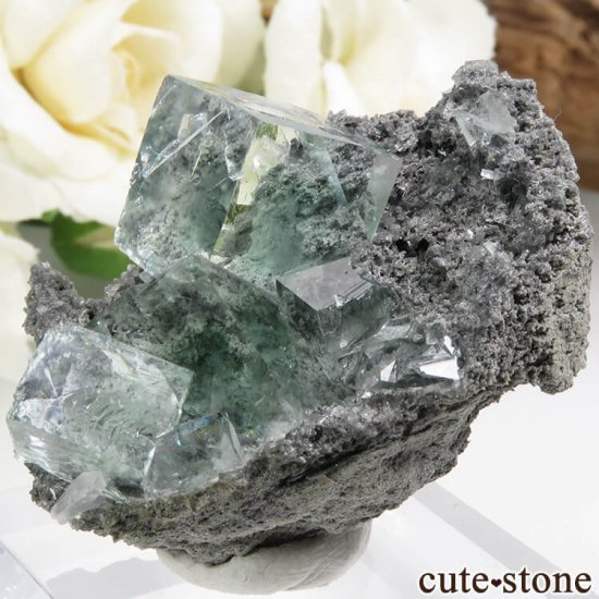 中国 Xianghualing Mine産 グリーンフローライトの結晶 25.2gの写真1 cute stone