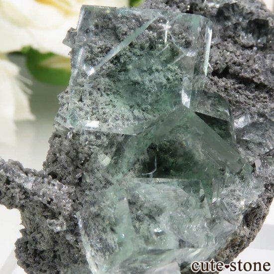 中国 Xianghualing Mine産 グリーンフローライトの結晶 25.2gの写真2 cute stone
