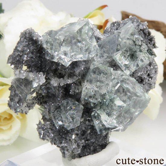中国 Xianghualing Mine産 グリーンフローライトの結晶 25.1gの写真0 cute stone