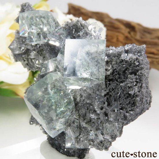 中国 Xianghualing Mine産 グリーンフローライトの結晶 25.1gの写真1 cute stone