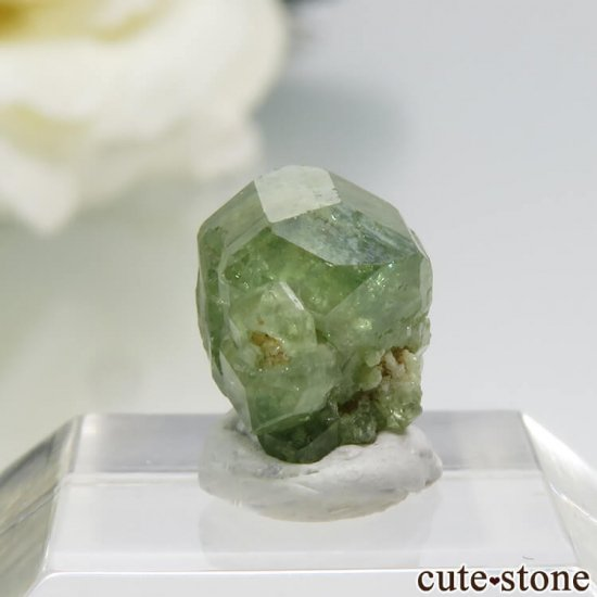 マダガスカル産のデマントイドガーネットの結晶 0.7gの写真0 cute stone