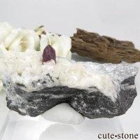 中国 湖南省産 辰砂(シンシャ)シナバー&ドロマイトの母岩付き原石 93.2gの画像