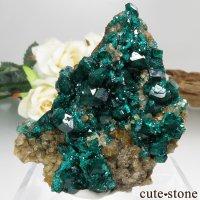カザフスタン産のダイオプテーズの結晶(原石)19.2gの画像