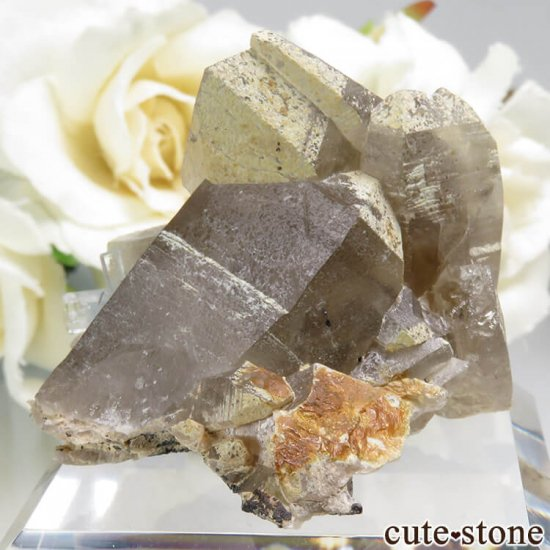 ナミビア エロンゴ産 アクアマリン&スモーキークォーツ&ブラックトルマリンの結晶(原石)34.4gの写真2 cute stone