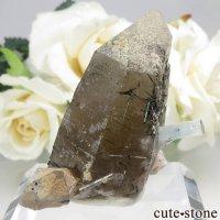 ナミビア エロンゴ産 アクアマリン&スモーキークォーツ&ブラックトルマリンの結晶(原石)20.6gの画像