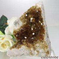 アメリカ オハイオ州産 フローライトの母岩付き原石 64.6gの画像