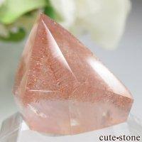 カザフスタン産 ストロベリークォーツ(苺水晶)のポリッシュ原石 No.3の画像