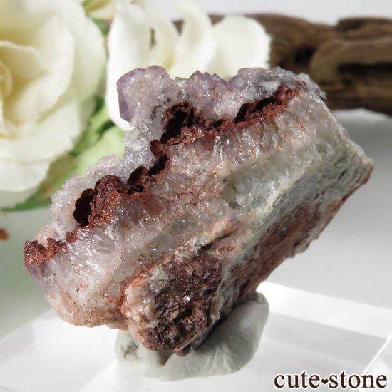 ドイツ Dorfel Quarry産 パープルフローライト&クォーツ 21.1gの写真1 cute stone