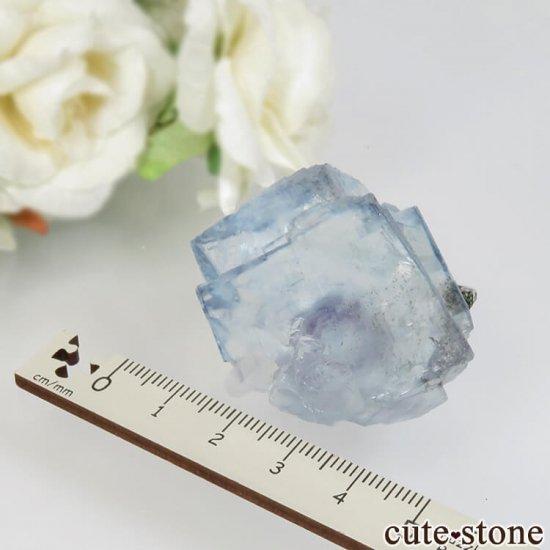 ヤオガンシャン産 ブルーフローライト&クォーツ No.33の写真4 cute stone