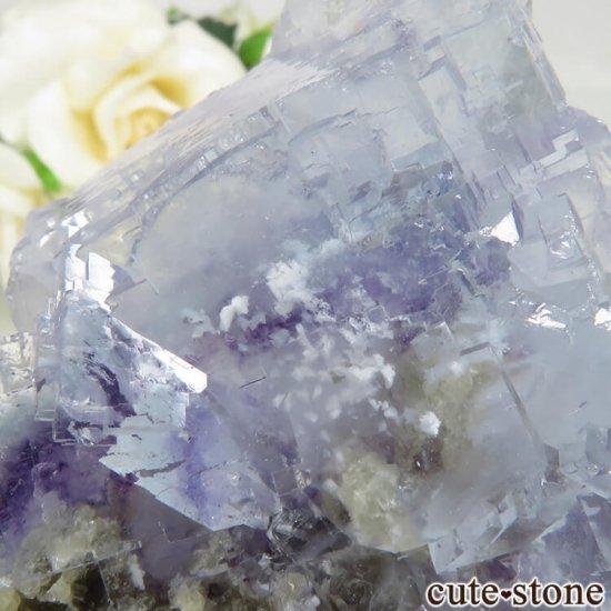 ヤオガンシャン産 ブルーフローライト&モスコバイト No.34の写真3 cute stone