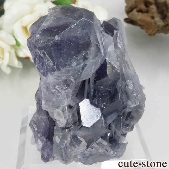 福建省 Xia Yang Mine産 パープル&ライトグリーンフローライトの原石 No.30の写真0 cute stone