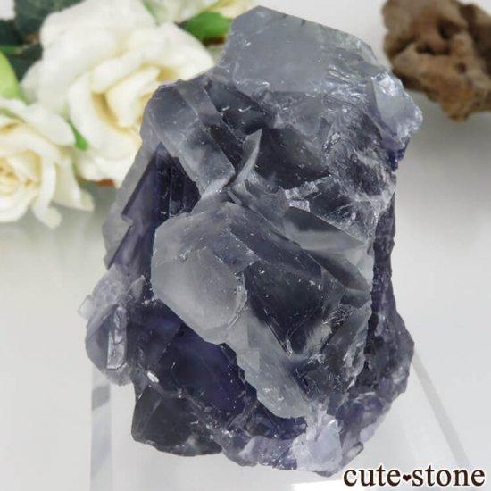 福建省 Xia Yang Mine産 パープル&ライトグリーンフローライトの原石 No.30の写真2 cute stone