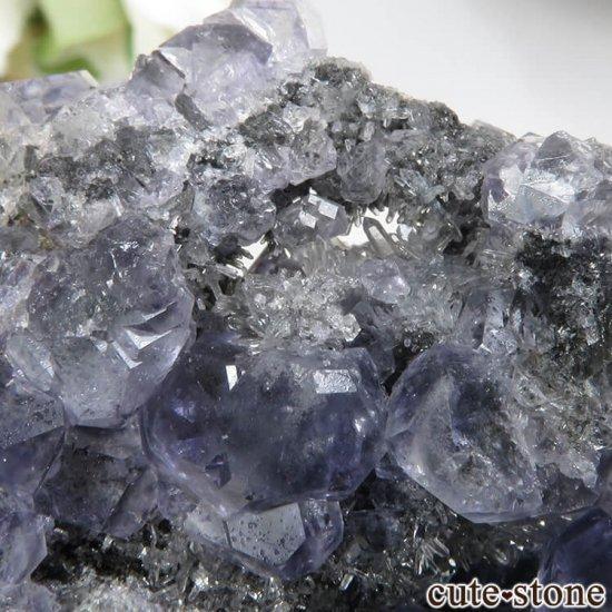 福建省 Xia Yang Mine産 パープルフローライト&クォーツの母岩付き原石 No.32の写真2 cute stone