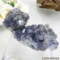 福建省 Xia Yang Mine産 パープルフローライト&クォーツの母岩付き原石 No.32の画像