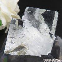 中国 福建省産 ライトグリーンフローライトの原石 No.4の画像