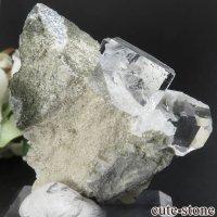 中国 福建省産 ライトグリーンフローライト&カルサイトの原石 No.6の画像
