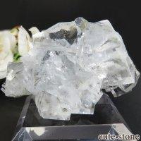中国 福建省産 ライトグリーンフローライトの&カルサイト原石 No.7の画像
