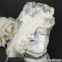 中国 福建省産 ライトグリーンフローライト&カルサイトの原石 No.8の画像