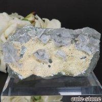 中国 福建省産 グリーン×ライトブルーフローライトの原石 No.10の画像