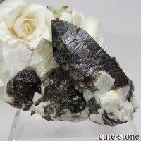 岐阜県産 カンゴーム - モリオン(黒水晶)のクラスター(原石)No.1の画像