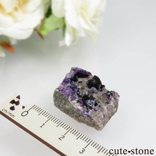 カナダ産 パープルフローライト&クォーツの原石 No.3の写真1 cute stone