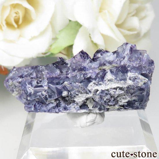 フランス Saint-Peray産 パープルブルーフローライトの原石 No.3の写真0 cute stone