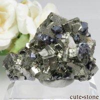 ペルー Huanzala Mine産 パイライト&カルサイト&ガレナの原石 No.15の画像