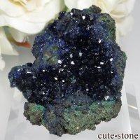 中国 安徽省 Liufengshan Mine産アズライト&マラカイトの母岩付き原石 No.4の画像