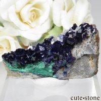 中国 安徽省 Liufengshan Mine産アズライト&マラカイトの母岩付き原石 No.5の画像