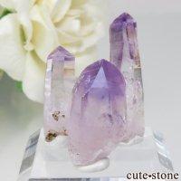 メキシコ ベラクルス産 アメジストの結晶(ベラクルスアメジストの原石)3本セット No.11の画像