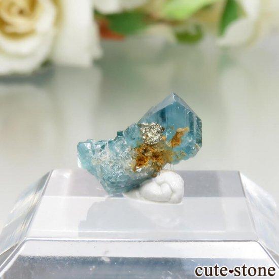コロンビア La Marina Mine産 ユークレースの結晶(原石)No.4の写真1 cute stone