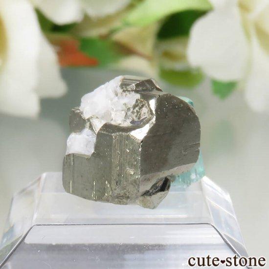 コロンビア Chivor Mine産 エメラルド&パイライトの結晶(原石)No.6の写真0 cute stone