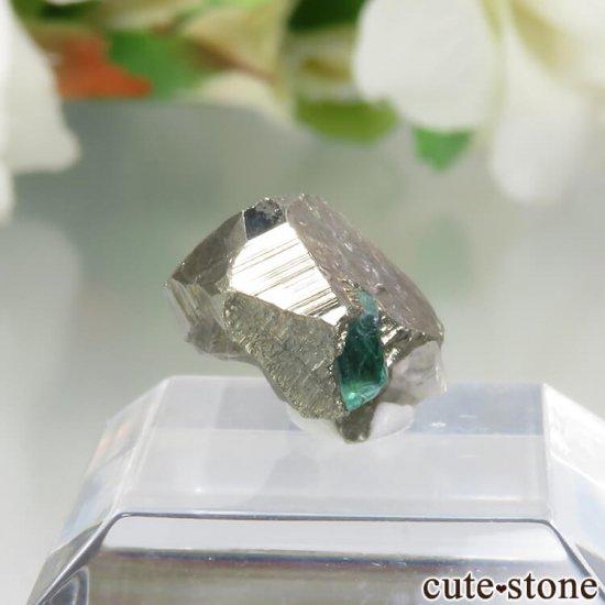 コロンビア Chivor Mine産 エメラルド&パイライトの結晶(原石)No.7の写真0 cute stone