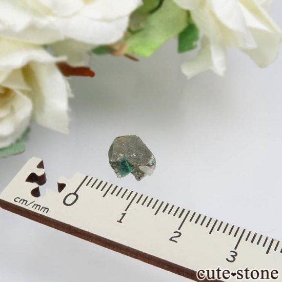 コロンビア Chivor Mine産 エメラルド&パイライトの結晶(原石)No.7の写真3 cute stone