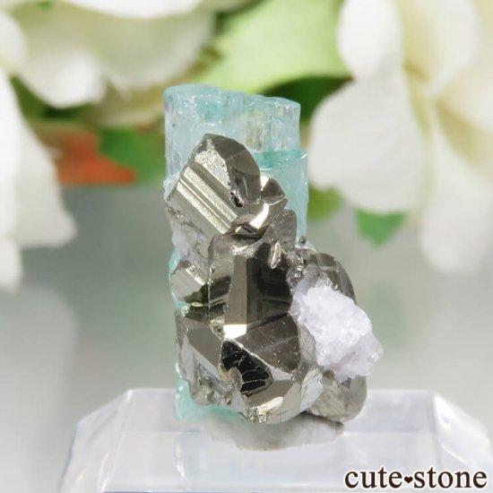 コロンビア Chivor Mine産 エメラルド&パイライトの結晶(原石)No.8の写真0 cute stone
