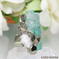 コロンビア Chivor Mine産 エメラルド&パイライトの結晶(原石)No.8の画像