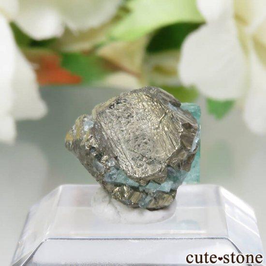 コロンビア Chivor Mine産 エメラルド&パイライトの結晶(原石)No.9の写真1 cute stone