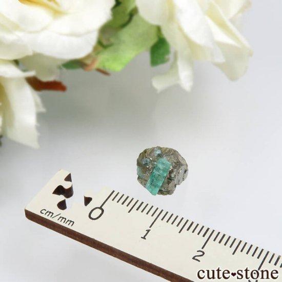 コロンビア Chivor Mine産 エメラルド&パイライトの結晶(原石)No.9の写真3 cute stone