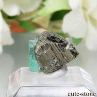 コロンビア Chivor Mine産 エメラルド&パイライトの結晶(原石)No.9の画像