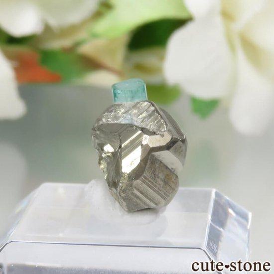 コロンビア Chivor Mine産 エメラルド&パイライトの結晶(原石)No.10の写真0 cute stone
