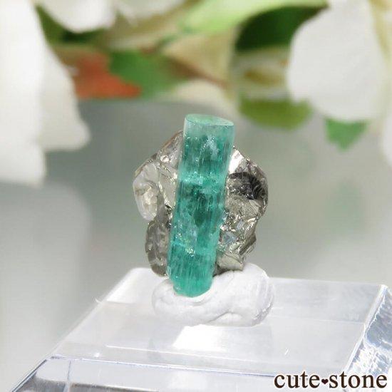 コロンビア Chivor Mine産 エメラルド&パイライトの結晶(原石)No.10の写真2 cute stone