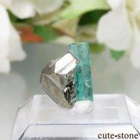 コロンビア Chivor Mine産 エメラルド&パイライトの結晶(原石)No.10の画像