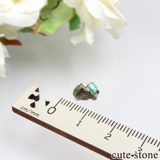 コロンビア Chivor Mine産 エメラルド&パイライトの結晶(原石)No.11の写真3 cute stone