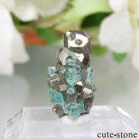 コロンビア Chivor Mine産 エメラルド&パイライトの結晶(原石)No.13の画像