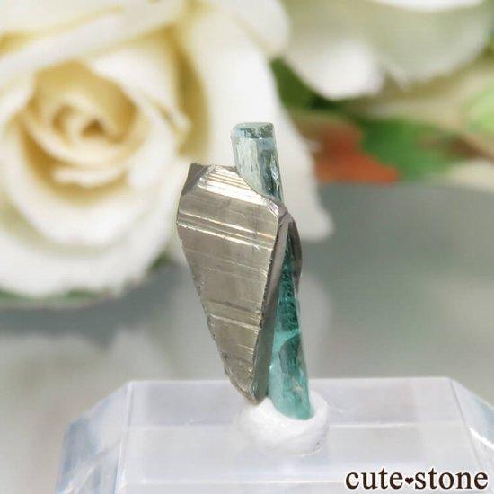 コロンビア Chivor Mine産 エメラルド&パイライトの結晶(原石)No.14の写真0 cute stone