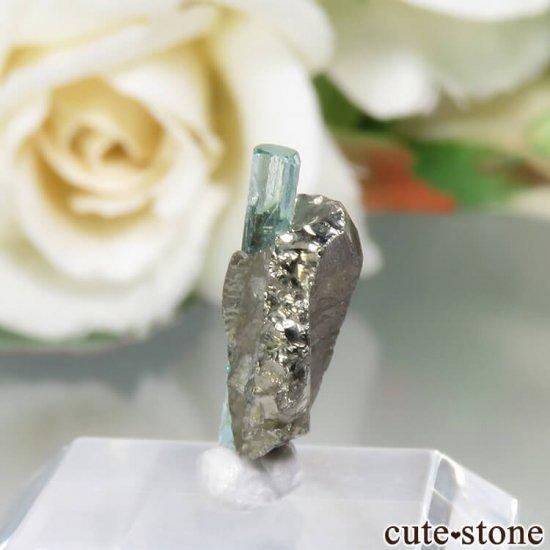 コロンビア Chivor Mine産 エメラルド&パイライトの結晶(原石)No.14の写真2 cute stone