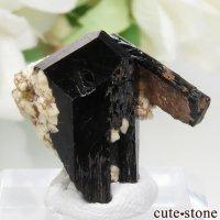 ナミビア エロンゴ産 ブラックトルマリン(ショール)&アルバイトの結晶(原石) No.6の画像