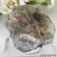 ドイツ Dorfel Quarry産 グリーン×パープルフローライト No.33の画像